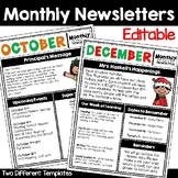 Monthly Newsletter Editable Templates