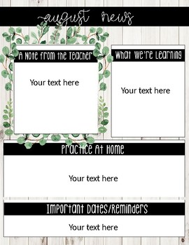 Monthly Newsletter Farmhouse-Editable