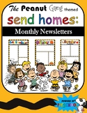 Monthly Newsletter Snoopy Charlie Brown The Peanuts Gang Inspired