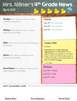 Monthly Newsletter Template