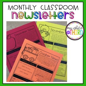 Monthly Newsletter Template (Editable)