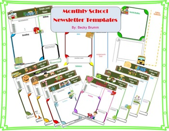 Monthly Newsletter Templates