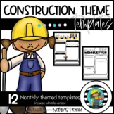 Monthly Newsletter Templates-Construction Theme
