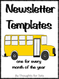 Monthly Newsletter Templates, EDITABLE