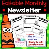 Monthly Newsletter Templates EDITABLE (Spanish)