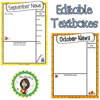 Newsletter Templates (Editable Text Boxes)
