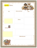 Monthly Newsletter Templates- Editable!!