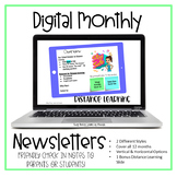 Monthly Newsletter Templates (Editable - color and B&W)