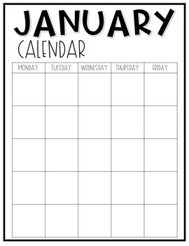 Monthly Newsletter and Calendar EDITABLE