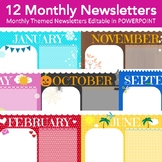 Newsletter Templates - 12 Editable Monthly Newsletters