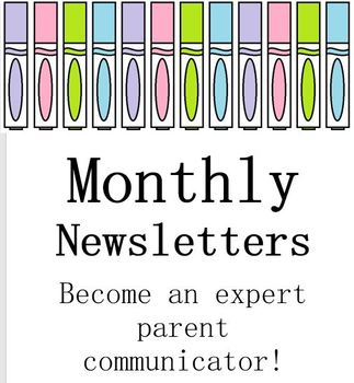 Monthly Newsletters Editable Template