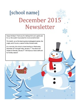 Monthly Newsletters - Customizable