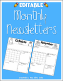 Editable Monthly Newsletters 2018-2019