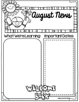 Monthly Newsletters {Editable}