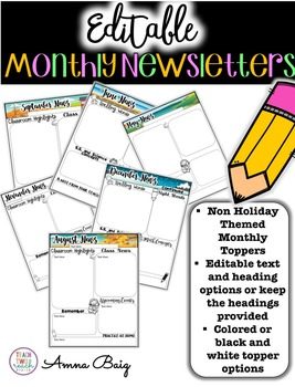 #presidentsdaydeals Monthly Newsletters - Editable - Double Sided Option