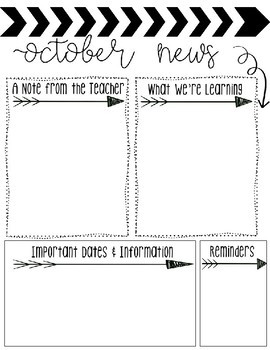 Monthly Newsletters-Editable