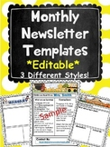 Monthly Newsletters (Editiable)