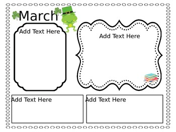 Monthly Newsletters - Frog Themed - Easy to Edit
