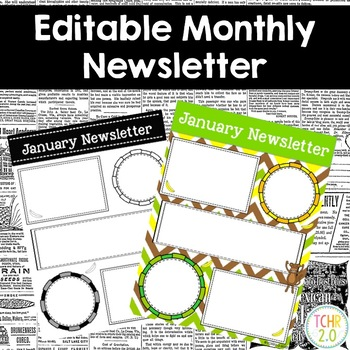 Monkey Monthly Newsletters Editable