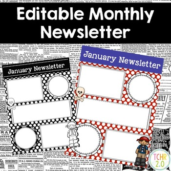 Pirate Monthly Newsletters Editable
