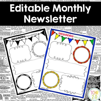 Monthly Newsletters Editable
