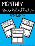 Monthly Newsletters *editable*