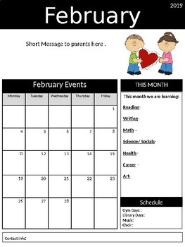 Monthly Newsletters (editable)