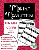 Monthly Newsletters for the Pull Out Teacher (English and