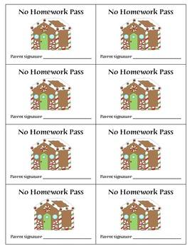 Monthly No Homework Passes