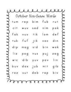 Monthly Non-Sense Word Fluency