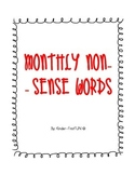 Monthly Non-Sense Word Fluency