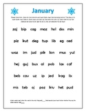Monthly Nonsense Words Packet