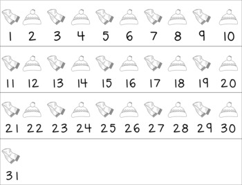 Monthly Number Calendars