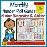 Number Roll Monthly & Holiday Math Games