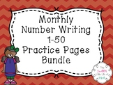 Monthly Number Writing Practice 1-50