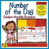 Number of the Day Monthly Classroom Booklets