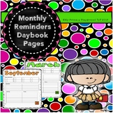 Monthly Overview Pages for Daybook