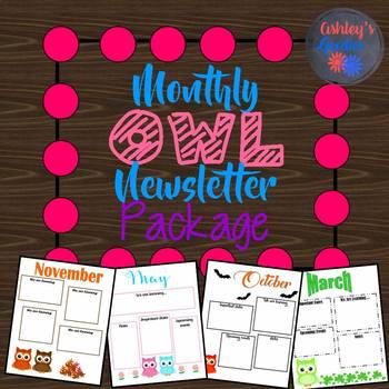 Monthly Owl Newsletters