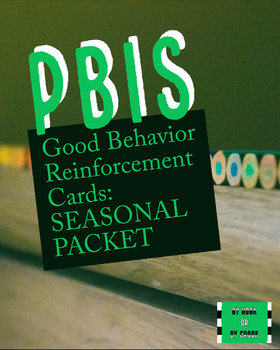 Monthly PBIS Reinforcement Cards