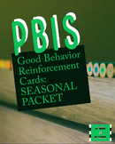 Seasonally Themed PBIS-Style Good Behavior Reward Cards
