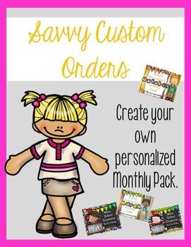 Monthly Pack Custom Orders