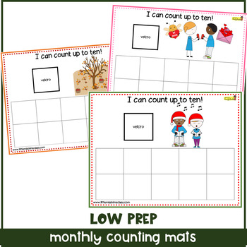 Monthly Pack of Tens Frames Counting Mats