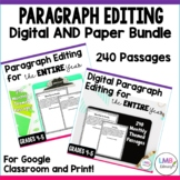 Monthly Paragraph Editing for the WHOLE year, Grades 4-5,