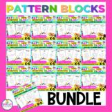 Monthly Pattern Block Puzzles BUNDLE