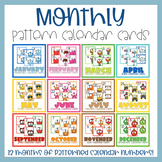 Monthly Pattern Calendar Set for the Year BUNDLE