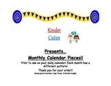 Monthly Pattern Calendar Pieces