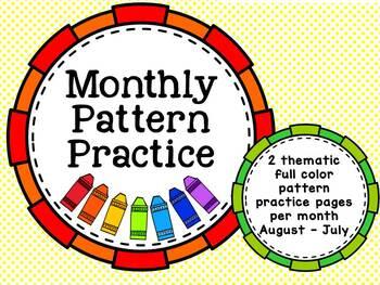 Monthly Pattern Practice (no prep)