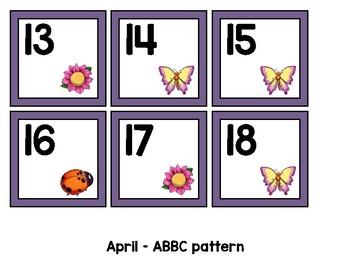 Monthly Patterned Calendar Cards {APRIL}