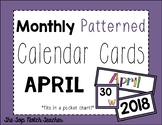 Monthly Patterned Calendar Cards {APRIL}