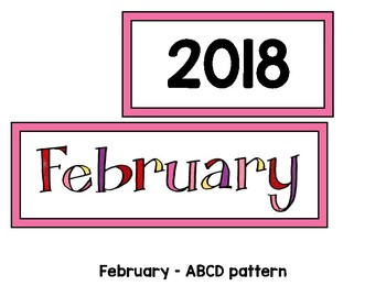 Monthly Patterned Calendar Cards {FEBRUARY}